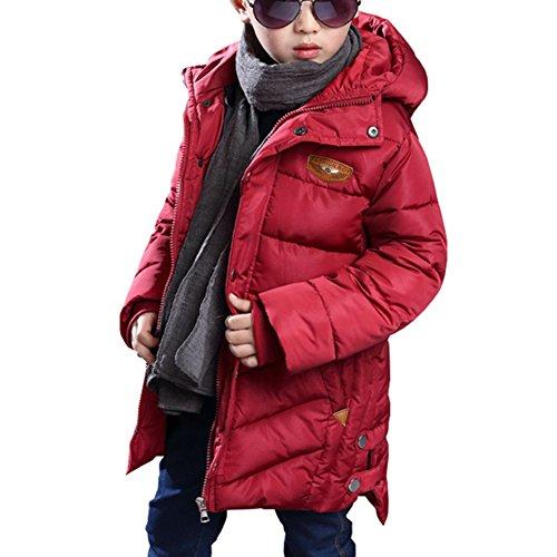 Bambini giubbotto piumino invernale ragazzi leggero lungo inverno giu cappotto giù il collo di pelliccia giacca maschile piumino con cappuccio