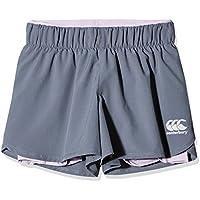 Canterbury of Nueva Zelandia de las niñas Vapodri 2-in-1pantalones cortos, niña, color gris medio, tamaño L