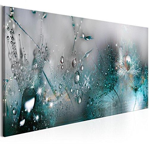 murando - Bilder Pusteblume 120x40 cm Vlies Leinwandbild 1 TLG Kunstdruck modern Wandbilder XXL Wanddekoration Design Wand Bild - Blumen Natur grau blau Pusteblumen b-C-0169-b-d