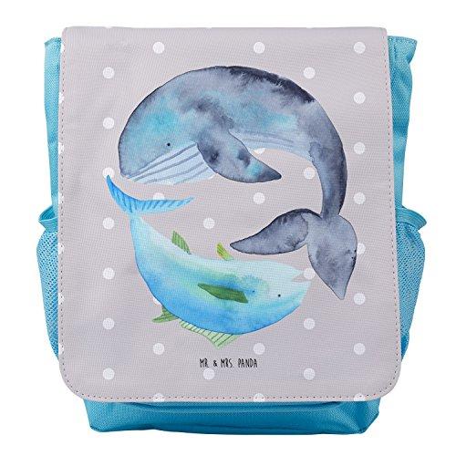 Mr. & Mrs. Panda Kids, Rucksack, Kinderrucksack Walfisch & Thunfisch - Farbe Grau Pastell