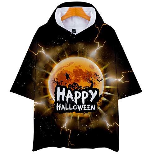 Hoodies Sommer Halloween Hooded Short Sleeve T-Shirt Männer Und Frauen Style 3D Digital Print Sweatshirt 7-XXXL