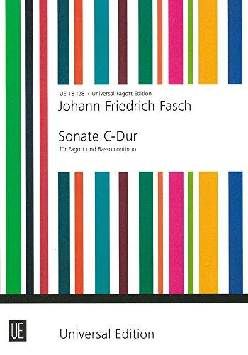 UNIVERSAL EDITION FASCH J.F. - SONATE - BASSON Klassische Noten Fagott