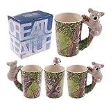 Lustige Tasse aus Keramik mit Dschungel Koala geformte Griff - Geschenk Geburtstag