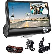 Hangang auto Dash Cam con schermo LCD 10,2cm FHD 170gradi grandangolo dashboard telecamera registratore con G-Sensor, WDR, loop recording