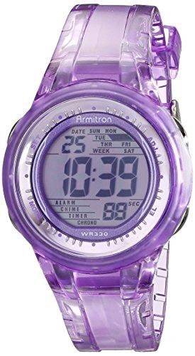 armitron-sport-womens-45-7051pur-digital-light-purple-clear-jelly-strap-watch