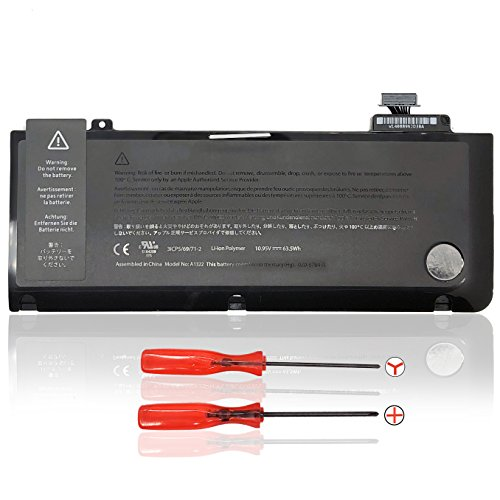 "Ersatz Akku für Apple MacBook Pro 13"" A1322 (A1278 Mid-2009 Mid-2010 Early-2011 Late-2011 Mid-2012) MacBook Pro 13 A1322 Replacement Batterie [Li-Polymer 10.95V 63.5 Wh]"