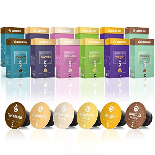 Gourmesso Flavour Box – 120 Nespresso kompatible Kaffeekapseln - Fairtrade
