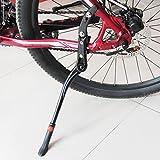 PUAK523Fahrrad Seite, Ständer, Verstellbar Aluminium Mountain Bike Hinten Kick Ständer mit Rutschfestem Gummi Fuß