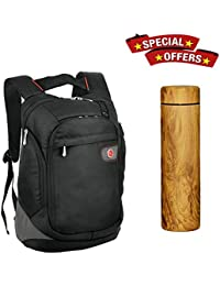 """Combo Offer"""" Get Hot & Cold Water Bottle With Lightweight Waterproof Durable Polyester 24 Ltr Black Premium 15.6..."""