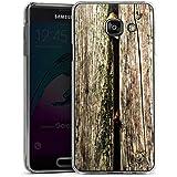 Samsung Galaxy A3 (2016) Housse Étui Protection Coque Planches Marais Marécage Mousse Look bois