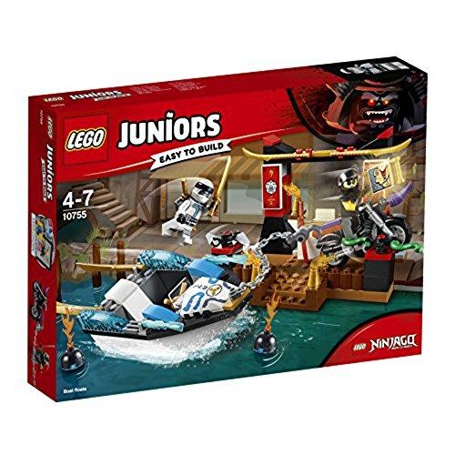 LEGO – 10755 – Juniors Ninjago – Jeu de Construction – la poursuite en Bateau de Zane