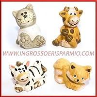 4c4d8b5cc2 Animaletti assortiti in resina colorata(cane,gatto,zebra,mucca) - bomboniere