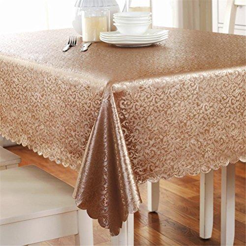 GMM® Tischdecke Stoff europäischen Teppich Tisch Stil Tischdecke wasserdicht regen nicht waschbar Tischdecke 90*150cm Coffee (Zebra-print-teppiche 8x10)