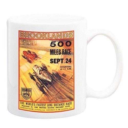 Brooklands 500 Meile Rennen Vintage Motorsport Becher - 11 Flüssigkeit Oz
