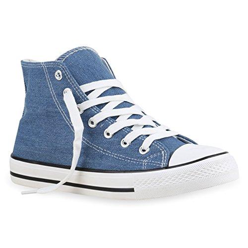 Scarpe Da Uomo Sneakers Sneakers Alte Scarpe Da Ginnastica In Denim Scarpe Mimetiche Bianche Flandell Blu