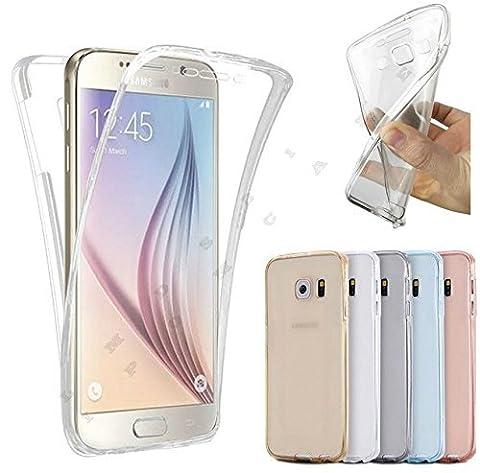 Brand A&D Coque intégrale Avant + Arrière silicone gel Clipsable 360 ° Samsung Galaxy S6 Edge+ S6 Edge Plus