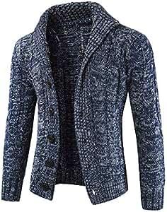 7bb48acb88e8 Riou Herren Strickjacke Cardigan Open Jacke Knit Beiläufige Dünne Mantel  Sweatshirt Sweatblazer Männer Herbst Winter Zip