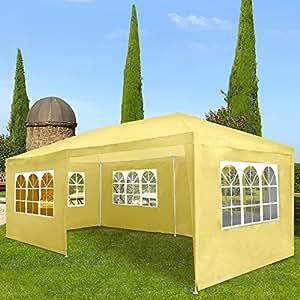 Miadomodo Marquee Tent Pavilion (3x6m) Waterproof Gazebo Patio Canopy Garden Shelter (Beige)