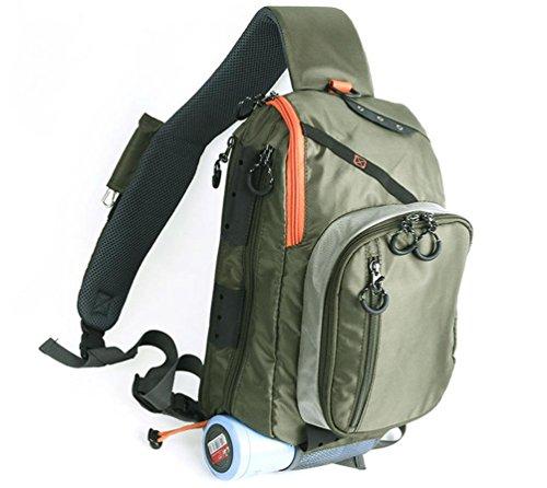 YHKQS-KQS Fliegenfischen Rucksack Multifunktionell tragbar Fischen Tackle Bag Armeegrün