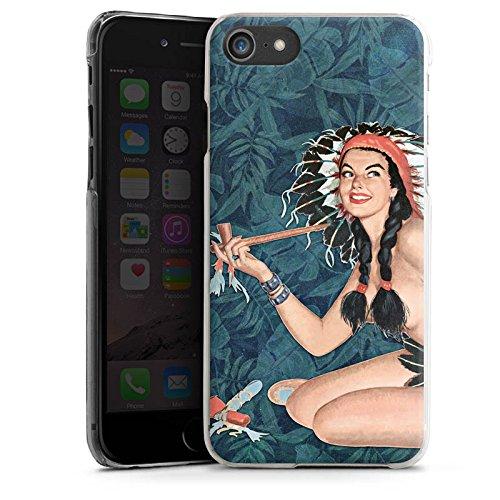Apple iPhone X Silikon Hülle Case Schutzhülle Indianer Frau Pinup Hard Case transparent