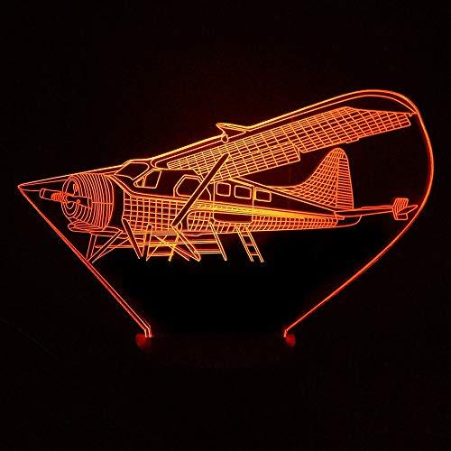 Segelflugzeug Flugzeug LED Nachtlicht Stimmung Lampe 7 Farbwechsel USB Power Tischlampe Kinder Geburtstag Geschenke Spielzeug Schlaf Nachtlichter han-9958