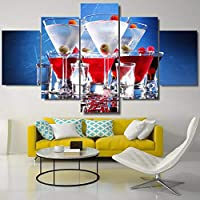 1c128aee4becc Kai Guo Living Room Pictures Home Decoration Poster Framework 5 Panel  Cocktail Drinks Pittura Wall Art Modulare