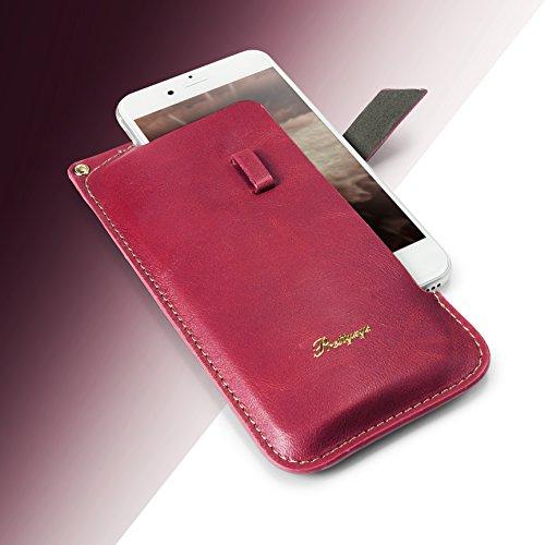 Urcover® 5,5 Zoll Universal Schutzhülle Pull Tab in Pink [ Mit Trageschlaufe ] Schale Etui Cover Case Smartphone Zubehör Pink