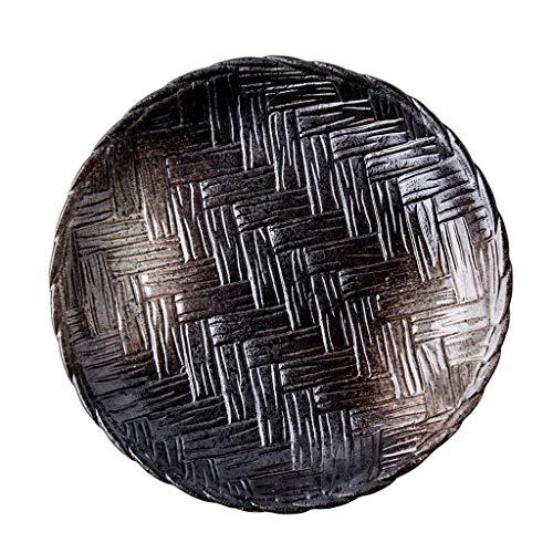Piatto in Ceramica Intrecciata da 10 Pollici, Piatto Rotondo Speciale per Ristorante,...