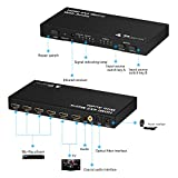 PORTTA HDMI Matrix 4x2 4 Port v1.3 1080p Splitter Switch Switcher 4 x IN 2 x OUT Verteiler Umschalter Audio Stereo Toslink Coax Coaxial mit IR-Fernbedienung full 3D Full HD