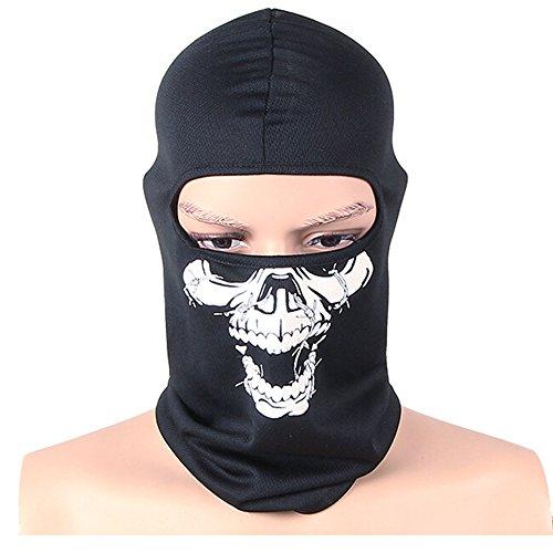 OUTDOT Motorrad-Gesicht Maske Weißes Skelett Schädel Gesicht Maske -