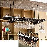 WRJJ Plafond monté en Rack vin, Fer Moderne Cadre pour Les Bars, Restaurants, Cuisines ou Caves à vin 120cm