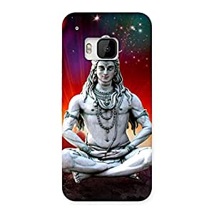 Delighted Shiva Yog Back Case Cover for HTC One M9
