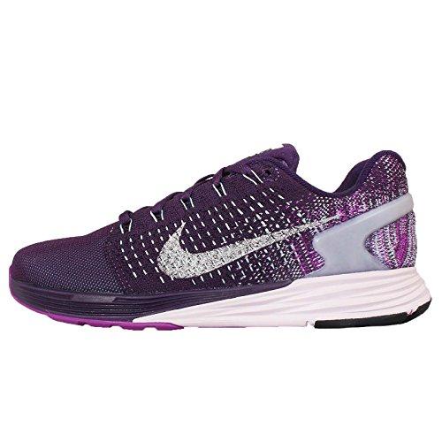 Nike Wmns Lunarglide 7 Flash, Scarpe da Corsa Donna Verde (Verde (Grnd Prpl / Rflct Slvr-Vvd Prpl))