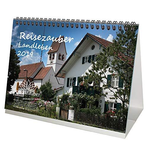 Reisezauber Landleben · DIN A5 · Premium Tischkalender/Kalender 2019 · Bauernhof · Landleben · Bayern · Urlaub · Idylle · Geschenk-Set mit 1 Grußkarte und 1 Weihnachtskarte · Edition Seelenzauber (Urlaub Geschenk-sets)