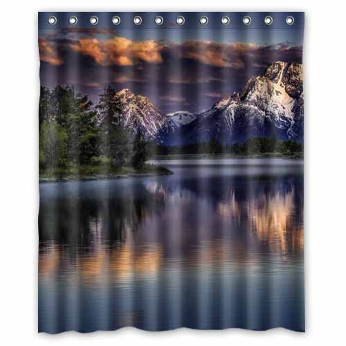 Shengpeng Shop Custom Waterproof Polyester Bathroom Fabric Shower Curtain Decor 60