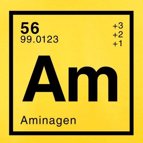 Amina Periodensystem - Herren T-Shirt - 13 Farben Gelb