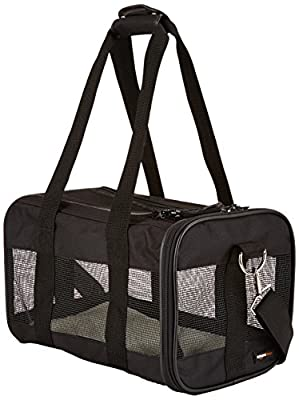 AmazonBasics Black Soft-Sided Pet Carrier - Small/Medium/Large from AmazonBasics