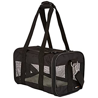 amazonbasics black soft-sided pet carrier - small/medium/large AmazonBasics Black Soft-Sided Pet Carrier – Small/Medium/Large 5191N1x 2BtvL