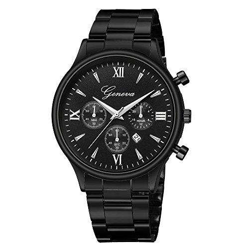 Juliyues Herren Uhren Wasserdicht Rostfreier Stahl Luxusuhr Datum Analog Quartz Uhr Herren Geschäft Edelstahl Armbanduhr-Armband