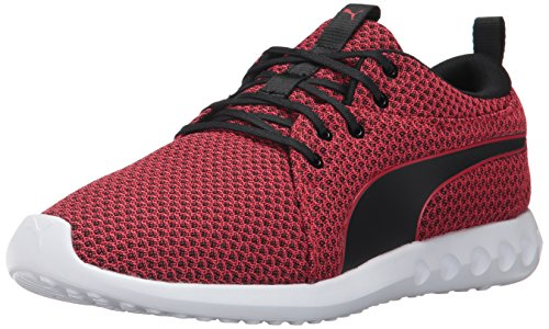 Puma-Mens-Carson-2-Knit-Sneaker-Toreador-Black-75-M-US
