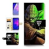 (pour Samsung Note 9, Galaxy Note 9) Portefeuille Flip Coque Protecteur d'écran et Bundle–A40094Starwars Yoda
