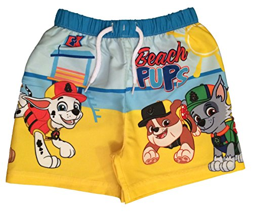 Paw Patrol Boys Beach Pups Swim Shorts Trunks Ages 18 Months To 5 Years