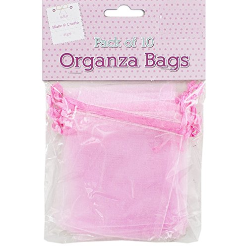 Pink Organza Bags - Pack Of 10