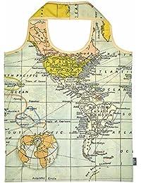 moses. 82427 Mando a WEH mágica Shopper Mapa del Mundo, poliéster, ...