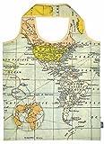 Moses Fernweh Zaubershopper Weltkarte, Polyester, Mehrfarbig, 56 x 38 x 0.1 cm