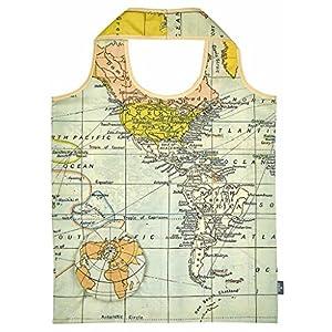 moses. 82427Mando a WEH mágica Shopper Mapa del Mundo, poliéster, 56x 38.0x 0.1cm