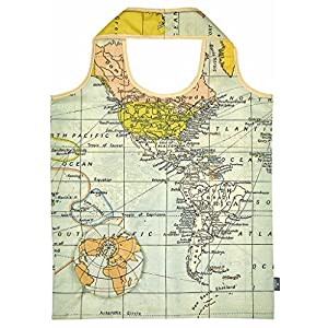 Moses 82427mando a WEH mágica Shopper Mapa del Mundo, poliéster, multicolor, 56x 38.0x 0.1cm