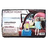 Purovi® Kofferraummatte Antirutschmatte | 140 x 100cm Rutschschutz für PKW, Wohnwagen, Boot und Haushalt | beliebig zuschneidbar