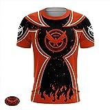 Adidase Aufdruck-T-Shirt für Herren, Tom Clancy's The Division2 Cosplay Freizeit Kurzarm Schnelltrocknendes Sport-T-Shirt,1,4XL