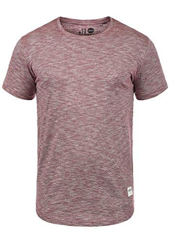 !Solid Figos Herren T-Shirt Kurzarm Shirt mit Rundhalsausschnitt Aus 100% Baumwolle, Größe:XL, Farbe:Wine Red (0985) - Leichtes T-shirt